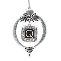 Inspired Silver My Initials - Letter Q Classic Holiday Decoration Christmas Tree - $14.69