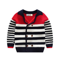 2018 Navy Style Baby Boys Sweater Chidlren's Girl Clothing Cardigan High... - $32.66