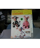 McCall's P315 Toddler Cow, Pig & Lamb Costume Pattern - Size 1/2 Chest 19 - $14.84
