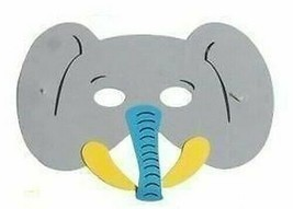 Gris Éléphant Masque, Enfants Mousse Eva Animal Masques, Déguisement - $1.61 CAD