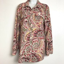 JM Collection Womens Size 14 Paisley Multicolored Long Sleeve Blouse - $16.82