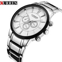 Men Watch  CURREN Fashion Business Sport Male Clock Full Steel  Wristwatch Water - $46.06