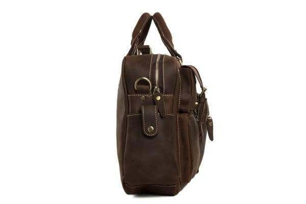 On Sale, Natural Leather Men's Travel Bag, Laptop Bag, Men Leather Briefcase image 3