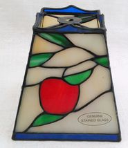 """Small 6"""" Stained Glass Lampshade White, Red, Green, & Blue image 6"""