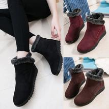 Winter Women Mother Waterproof Ankle Boots Shoes Rain Warm Fur Footwear