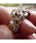 Personality Steampunk Mechanical Gear Clockwork Rings for Men Women Goth... - $15.23+