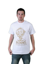 Milkcrate Athletics Herren Bummy Weiß Gold T-Shirt