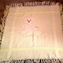Vtg First Impressions Yellow Teddy Bear Baby Blanket Excellent Condition.  - $14.01