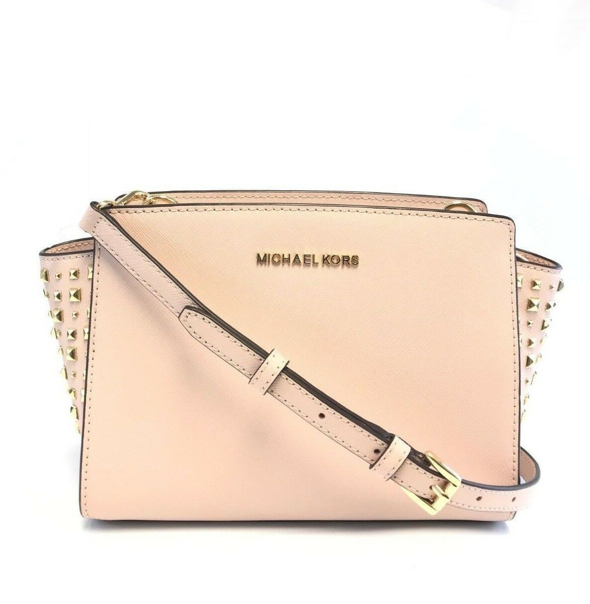 Primary image for Michael Kors Stud Ballet Pink Selma Medium Messenger Crossbody Bag