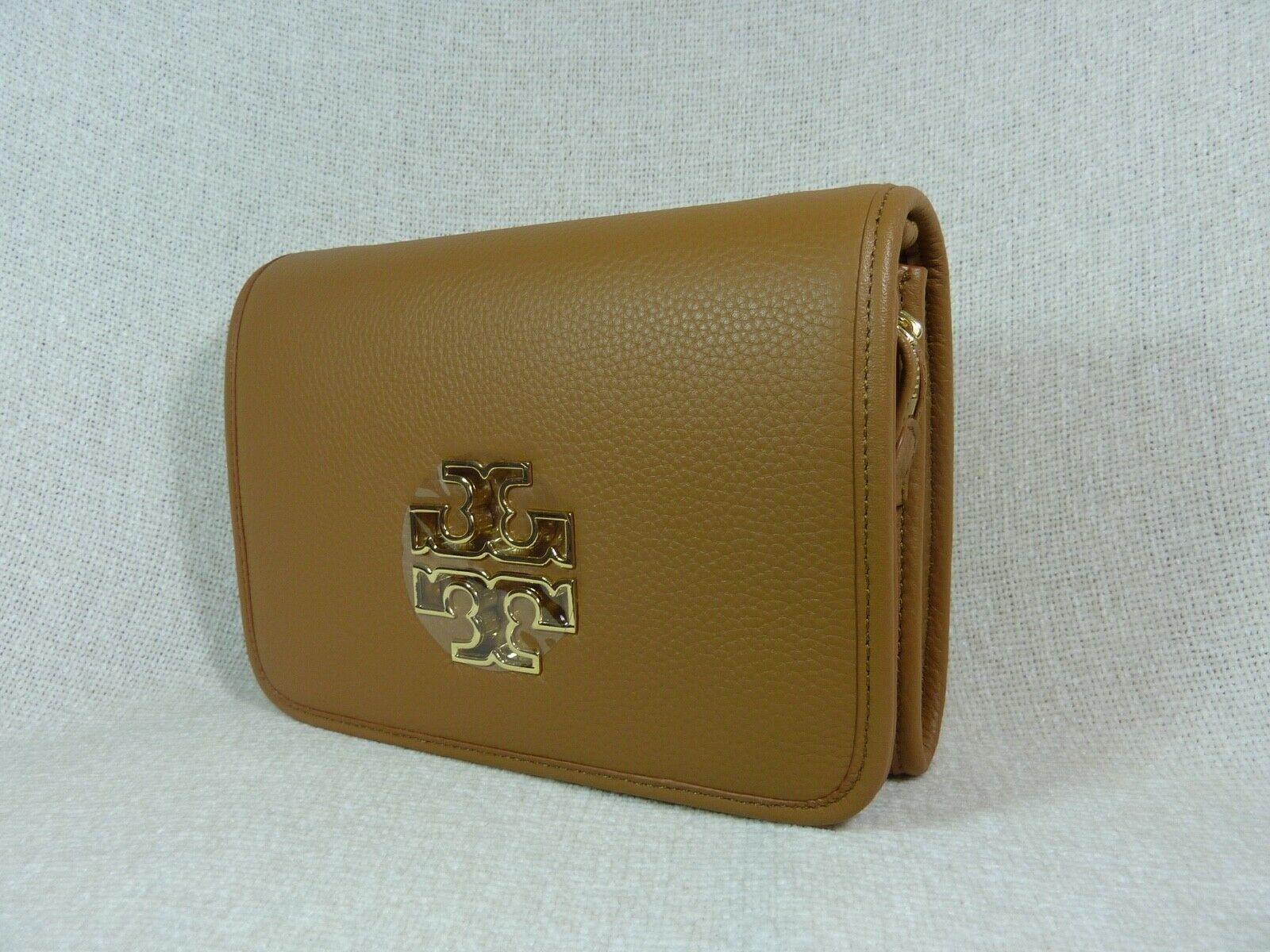 NWT Tory Burch Bark Leather Britten Combo Cross Body bag/Clutch  - $425 image 3