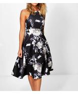 Boohoo Women Eleanor Floral Strappy Midi Skater Dress Size US 6 (Small) ... - $18.80