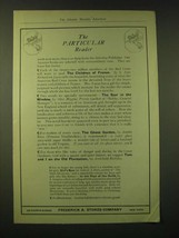 1918 Frederick A. Stokes Company Ad - The Particular Reader - $14.99
