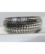 John Hardy Large Dot Kick Cuff Wide Bangle Bracelet Sterling Silver Hinged - $704.95