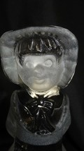 Viking Glass Crystal Satin Country Girl Figurine Paperweight Bookend - $25.00