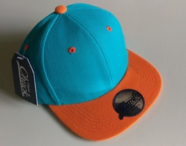 New Original Chuck Teal Orange Casual Hat Cap Snap-Back One Size New - £14.46 GBP