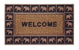 "HF by LT Boho Market Rubber and Coir Flatweave Doormat, 18"" x 30"", Durab... - $37.06"