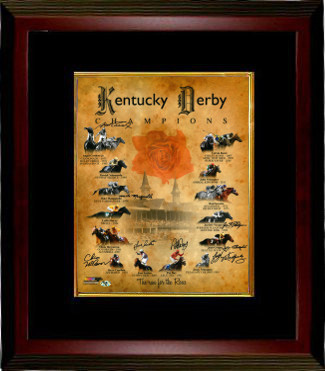 Primary image for Dust Commander signed Kentucky Derby Champions Churchill Downs Run for the Roses