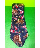 100% Silk Bucking Bronco Rodeo Tabasco Necktie - $9.14