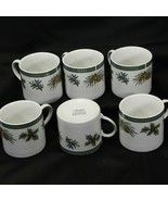 Fairfield Wintergreen Cups Lot of 6 Christmas Holiday  - $29.39
