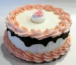 Large  Fake Cake Peach with Chocolate Drizzle Faux Cake Prop Decoration - $49.59