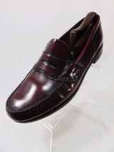 GH BASS Weejuns Mens Penny Loafer Style Shoes Size 10 D Moc Toe Burgundy 731 USA - $57.00
