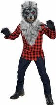 Amscan Hungrig Heuler Werwolf Maske Kariert Hemd Jungen Kinder Halloween Kostüm - $41.95