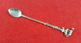 Vintage Italian Silverplate Souvenir Long Spoon Capitoline Wolf Romulus & Remus - $19.79