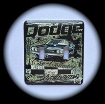 Dodge Double Toggle Metal Switch Plate Cars - $10.50