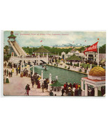 The Chutes White City Amusement Park Lakeside Denver Colorado 1910 postcard - £5.68 GBP