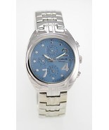 Lorus Women's Blue Dial Silver Tone Case Band 30m Quartz Battery Watch - $28.73