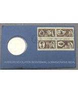1972 Bicentennial Primer Dia Medallón ~Revolution~ George Washington ~ F... - $14.41