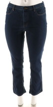Denim & Co Slimming Straight Leg Chic Jeans Dark Indigo 12 NEW A272959 - $27.70