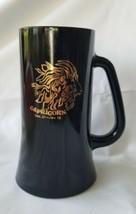 Tiara Indiana Glass Black Gold Capricorn Seagoat Zodiac Tankard Mug - $16.14