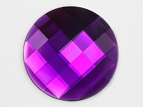 60mm Flat Back Round Acrylic Jewels Pro Grade Individually Wrapped - 2 Pieces (P