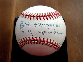 BOB KUZAVA 3X WSC NEW YORK YANKEES PITCHER SIGNED AUTO VTG BASEBALL BECKETT - $89.09