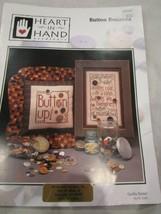 Vintage Heart in Hand Needleart Cross Stitch Leaflet Button Bonanza Bran... - $5.99