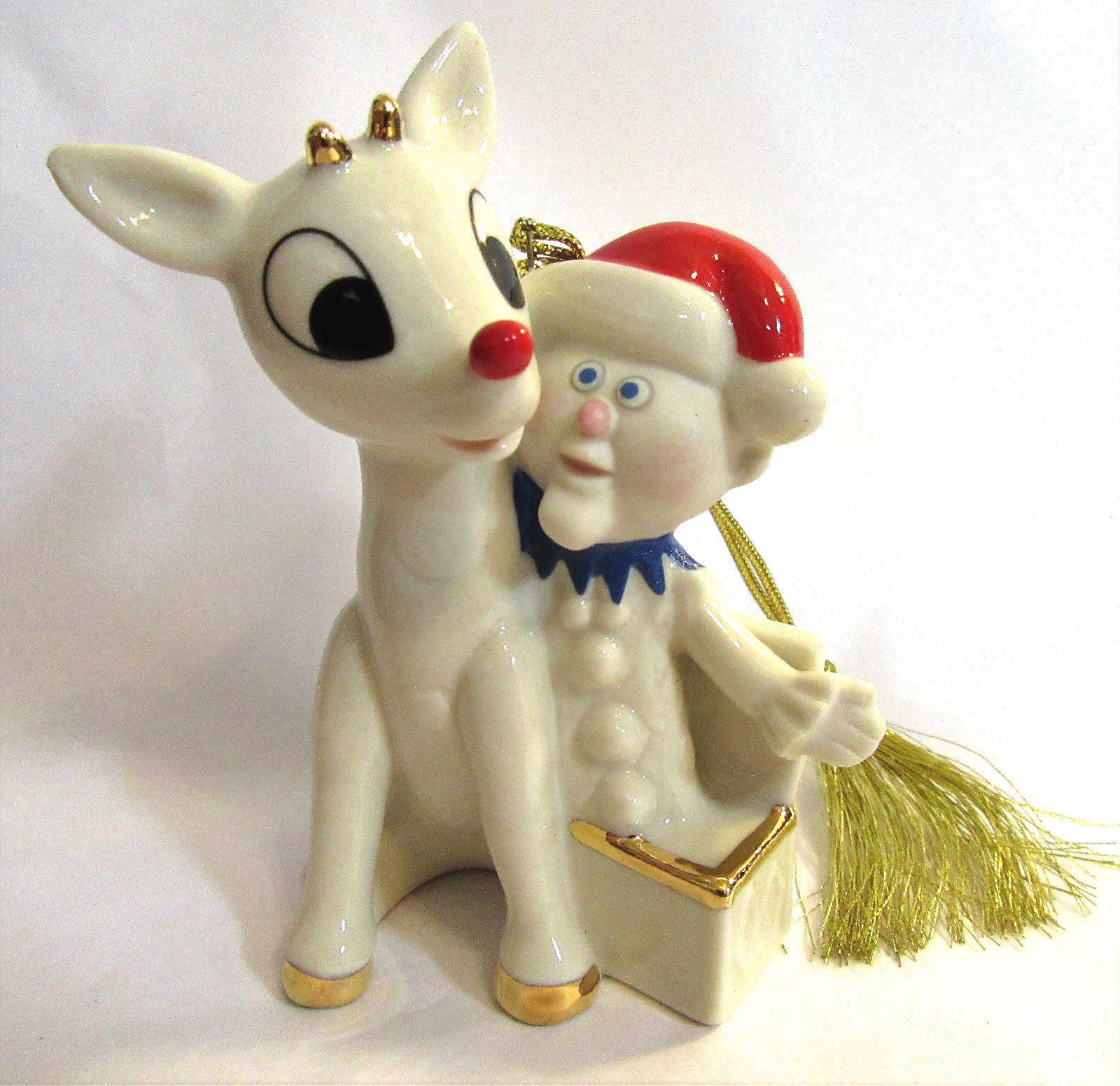 Lenox Rudolph & Charlie in the Box Ornament 2015 Annual Red Nosed Reindeer NEW