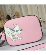 Coach Disney X Coach Camera Crossbody Bag Dalmatian Blossom Pink Gold - $399.00