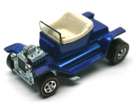 Vintage 1968 Hot Wheels Redline Hot Heap Diecast Car Metallic Blue Matte... - $125.38