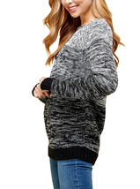 Women's Oversized Long Sleeve Colorful Chunky Knitted Casual Pullover Sweater image 5