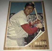 1962 Topps Stan Musial St. Louis Cardinals #50 Baseball Card - $61.37