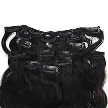 "Easyouth 8"" Natural Black Curly Clip in Extensions Body Weave 7Pcs/Set 100g Per  image 3"