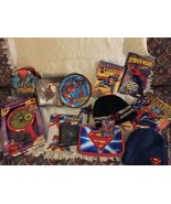 Lot Of 14 Marvel Hasbro Spider-Man Superman Book Tin Game Plate Bowl figure Card - $18.90