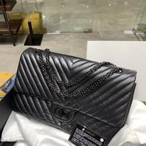 Chanel Black 2.55 Reissue SO BLACK CHEVRON Calfskin 227 Jumbo Double Flap Bag image 4