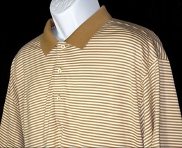 FAIRWAY & GREENE Men's Golf Polo Shirt SZ XL Brown White Striped EUC Exc... - $24.06