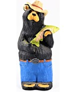 Bear Foots Bear Holding a Fish by Montana Artist JEFF FLEMMING - $24.74