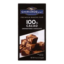 Ghirardelli Premium Baking Bar - 100% Cacao Unsweetened Chocolate - Case of 12 - - $50.99