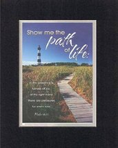 Show me the path of life . . . 8 x 10 Inches Biblical/Religious Verses s... - $11.14