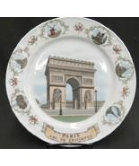 Kronester Paris Collector Plate Points of Interest Arc de Triomphe Notre... - $14.10