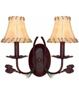Pine Cone Wall Light Fixture Cabin Trans Globe Lighting Antique Rust finish - $77.22